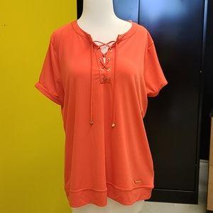 XL Anne Klein orange shirt